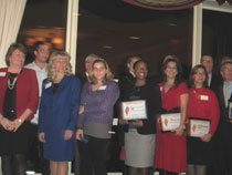 Jeanine Garab of the Epilepsy Foundation of Northeastern NY and awardees