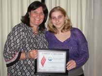 Epilepsy award for the Northeast Regional Epilepsy Group-Kim and Shelby