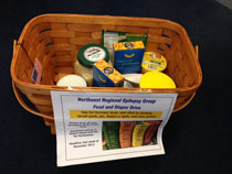 White Plains Office Sandy food drive basket