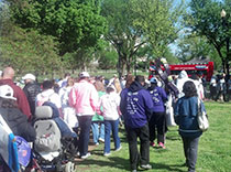 Hundreds of walkers at Epilepsy Foundation 2013 Walk