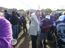 Dr. Myers with Tandiwe at the epilepsy walk