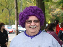 Purple Wig for our epilepsy team