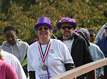 Mary and Michael walking for epilepsy
