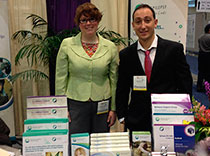 Melissa and Martin at Epilepsy Life Links booth